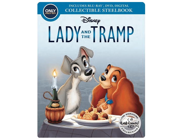 Daily Deals Lady and the Tramp Signature Collection SteelBook (Blu-ray & DVD) DVD & Blu-ray Players