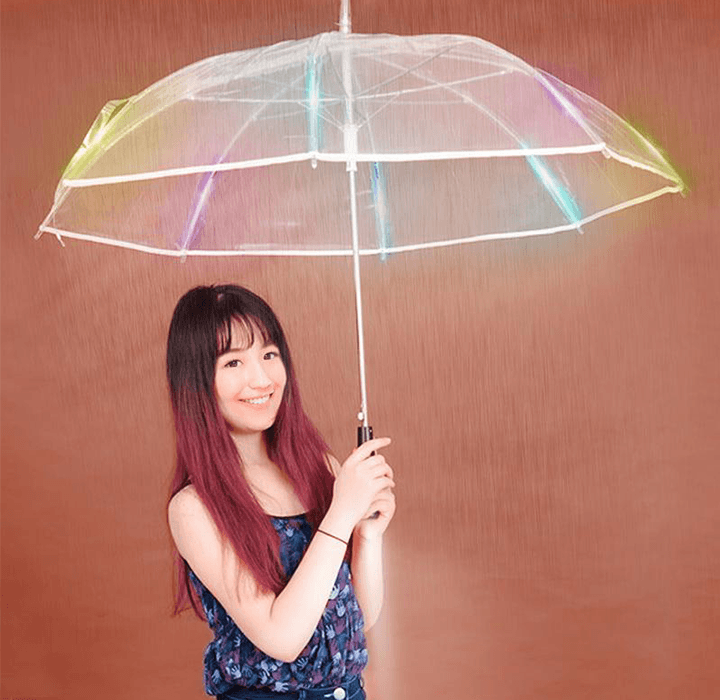 Daily Deals LED Color Changing Umbrella with Flashlight Parasols & Rain Umbrellas