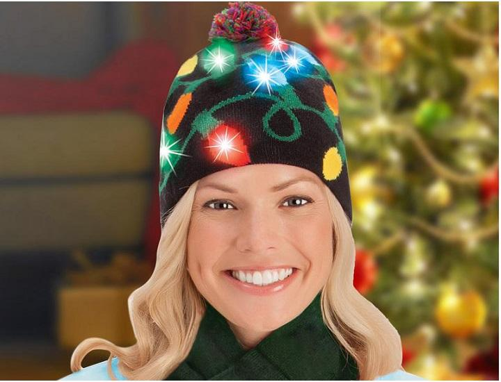 Daily Deals Light-Up Holiday Beanie Hats