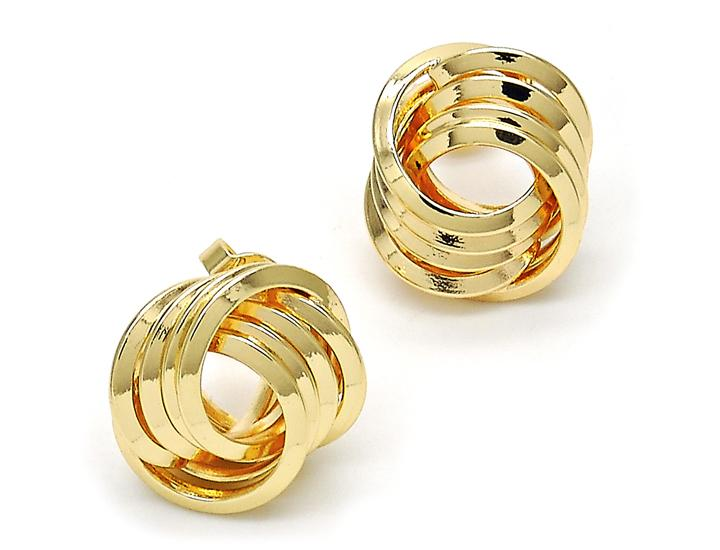 Daily Deals Love Knot 18K Gold Plated Stud Earrings Earrings