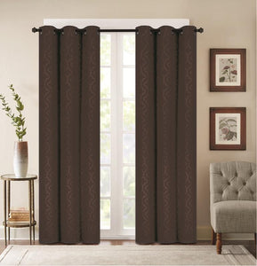 [2-Panels] Madison Embossed Thermal Energy-Saving Blackout Curtains