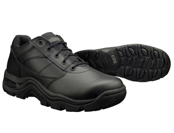 Daily Deals Magnum Viper Slip-Resistant Black Leather Work Shoes Shoes