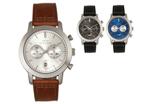 Elevon Langley Chronograph Leather-Band Watch