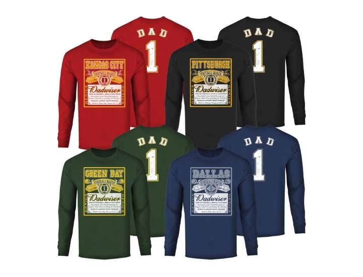 Men's Dadwiser Football Long Sleeve Shirt
