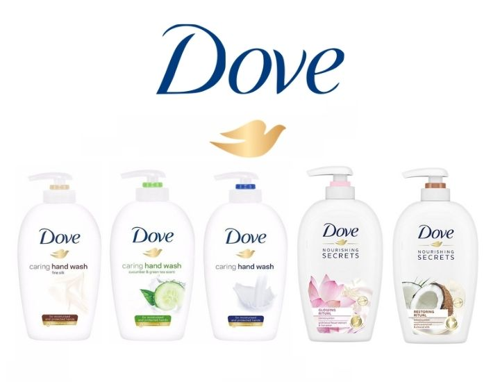 Dove Caring Hand Wash 250ML (Pack of 5)