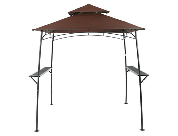 Outdoor 8' x 5' Grill Gazebo Canopy with Smoke Vent