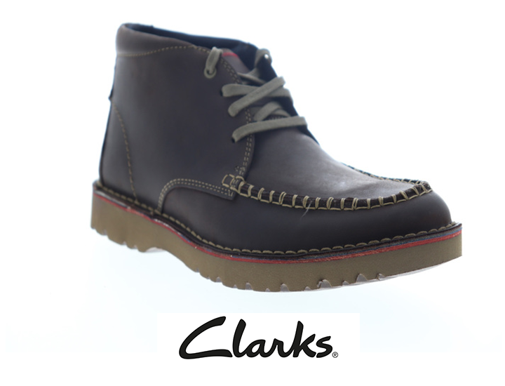 Clarks Vargo Apron Brown Leather Chukkas Boots