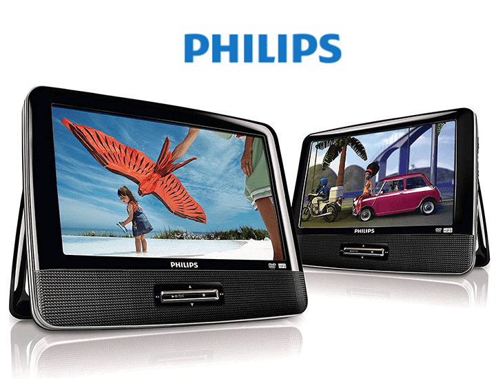 Philips Portable DVD Player with Dual 9-Inch Screens  - UntilGone.com