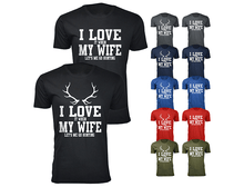 Daily Deals Men's 'I Love It When My Wife Let's Me Go Hunting' T-shirt Shirts & Tops