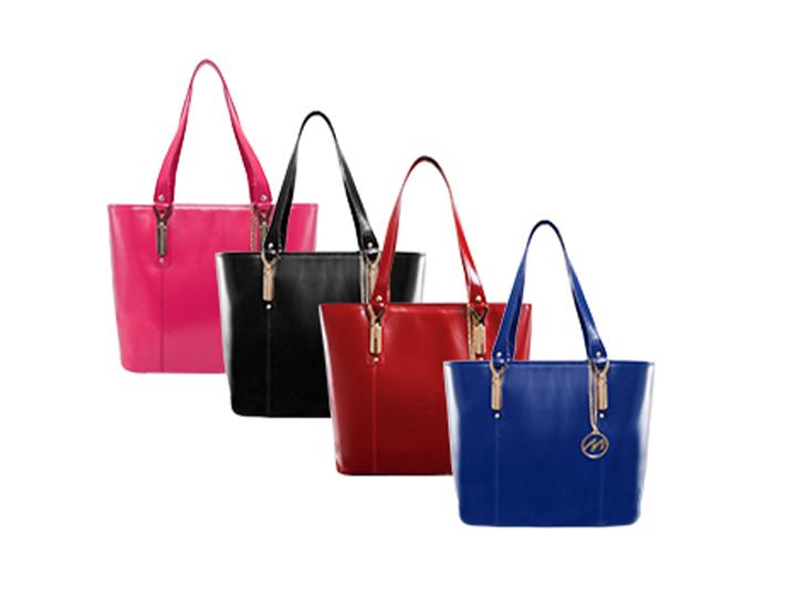 Daily Deals McKleinUSA Savarna Leather Ladies' Tote with Tablet Pocket Handbags