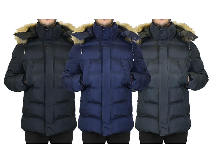 Daily Deals Men's Heavyweight Parka Jacket with Detachable Hood Coats & Jackets