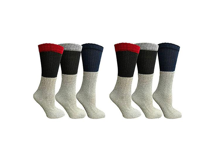 Daily Deals Men's or Women's Thermal Socks (6-Pairs) Socks