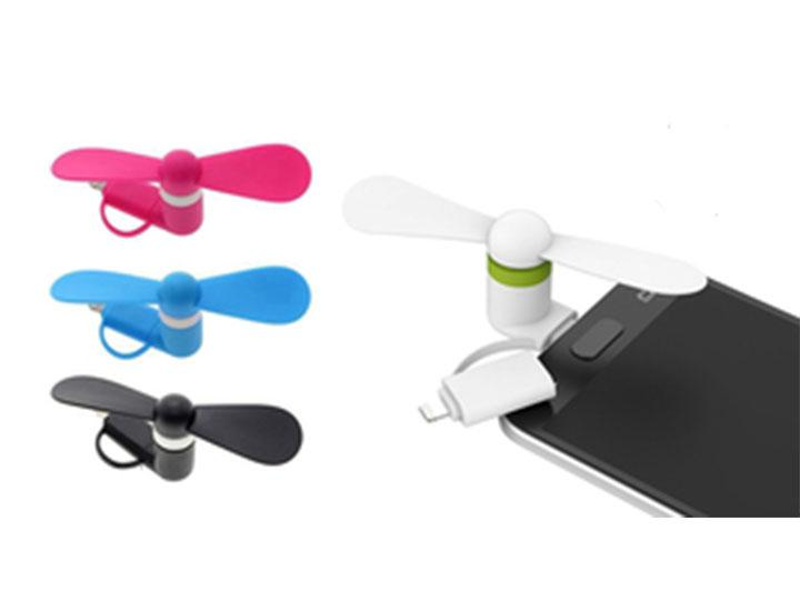[2-Pack] Portable Fan Attachment for iPhone & Android Smartphones Mobile Phone Accessories