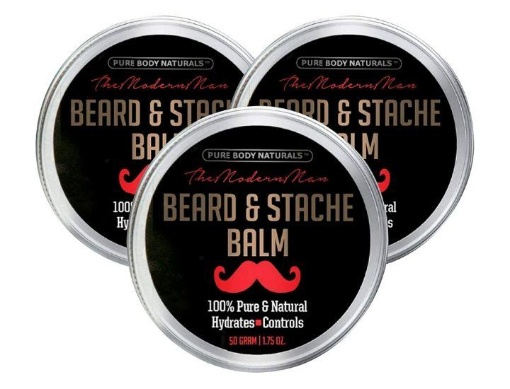Daily Deals Natural Beard Balm for Men Amber Musk (6-Pack) Hair Care
