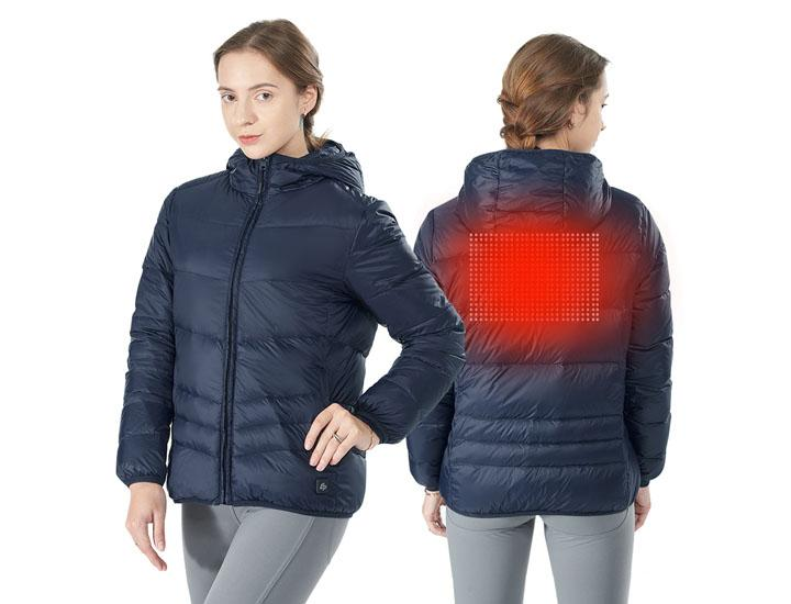 Daily Deals Navy Women's Electric USB Down Heated Puffer Jacket (Clearance) Coats & Jackets