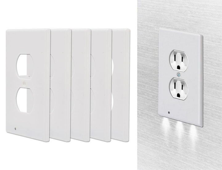 5-Pack LED Night Light Outlet Cover