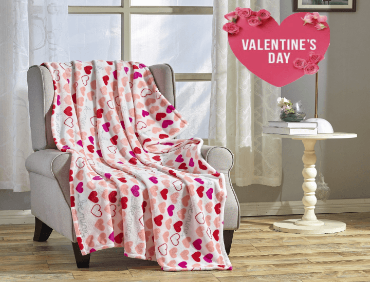 Daily Deals Noble House Valentine's Day Plush Throw Blanket Blankets