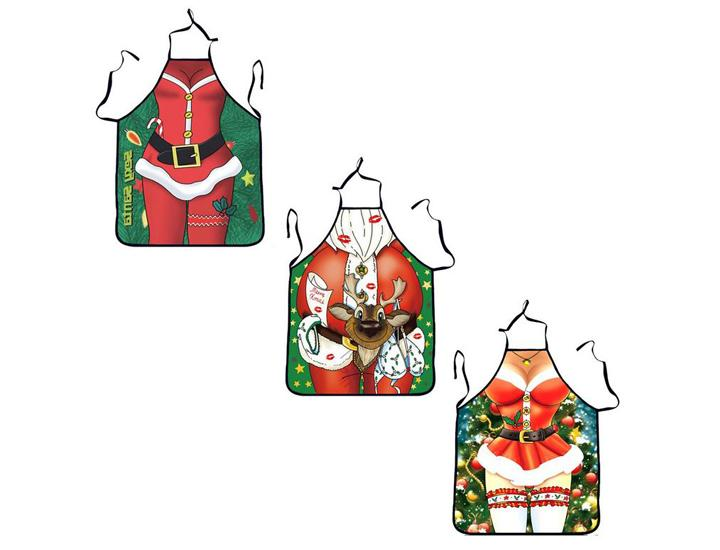 Daily Deals Novelty Santa and Mrs. Claus Aprons Aprons