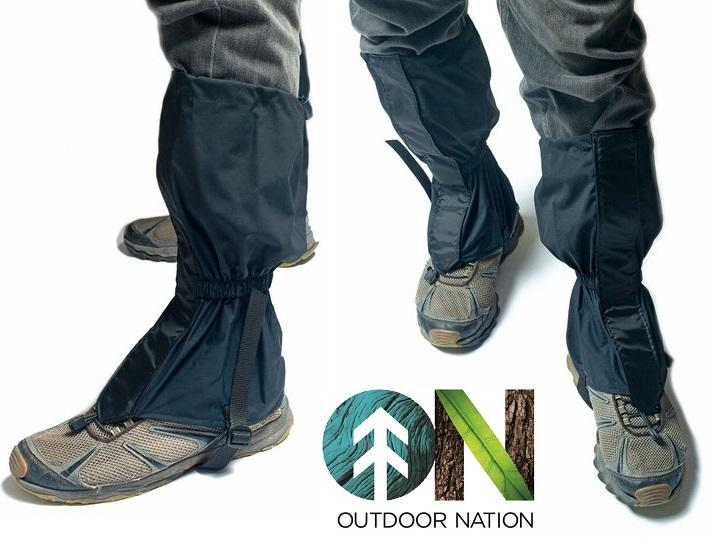 Outdoor Nation Waterproof Leg Gaiters – Perfect for Snow-Shoeing Gaiters