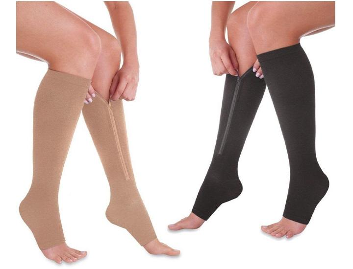 Daily Deals Open Toe Zip Up Compression Socks Socks