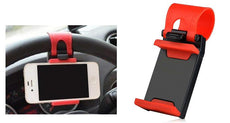 Car Steering Wheel Phone Holder Mount for iPhone and Android