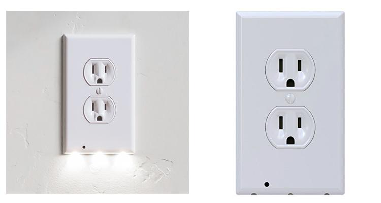 [4-Pack] Snap-On Outlet Cover with Built-In LED Night Lights  - UntilGone.com