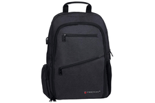 Black Laptop Backpack with USB Charging Port