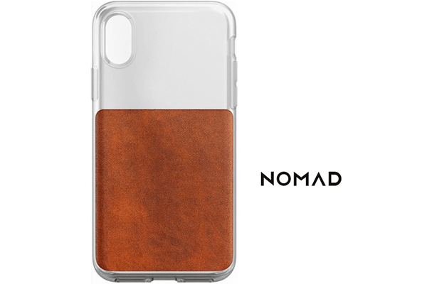 best sneakers 64a2b 1b697 Nomad Elastomer and Horween Leather Case for iPhone X and XS