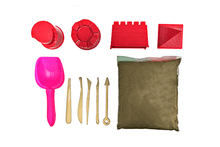 [10-Piece] Miracle Sand Playset with Castle Mold Beach & Sand Toys