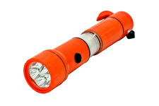 5-in-1 Emergency Tool LED Flashlight with Seat Belt Cutter