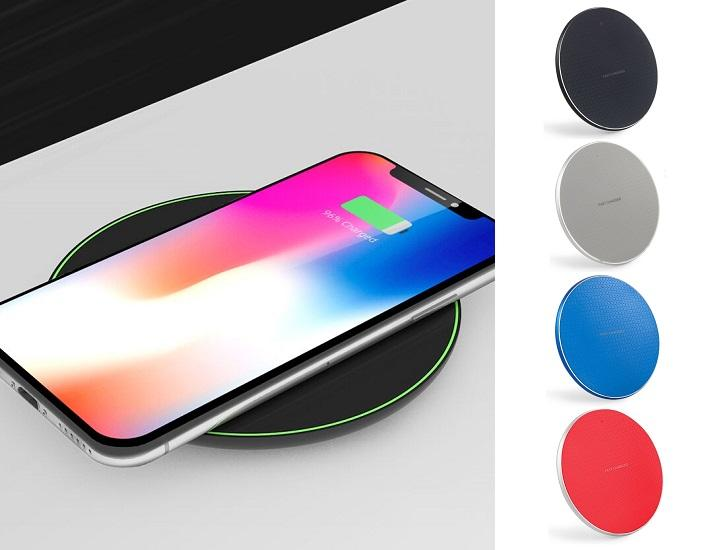 Daily Deals Qi Wireless Charging Pad with 10W Max Fast Charge Power Adapters & Chargers