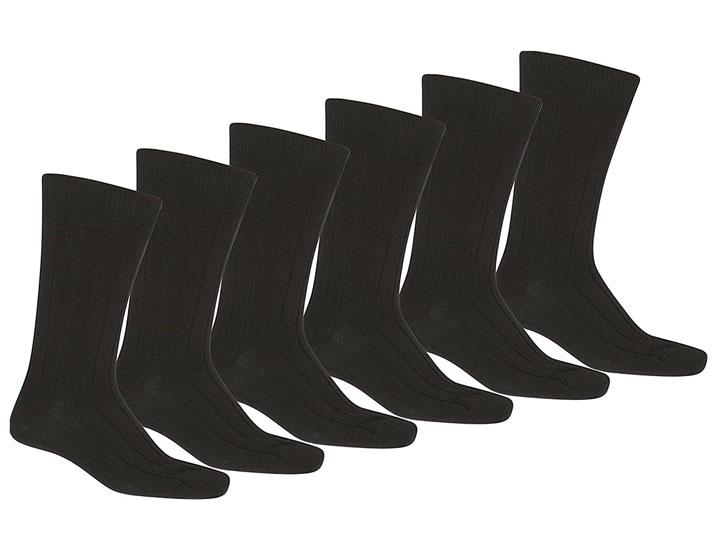 Daily Deals Qraftsy Men's Solid Plain Dress Socks (36 Pairs) Socks