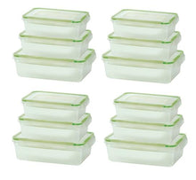 [24-Piece Set] Click and Lock Rectangular or Square Storage Containers
