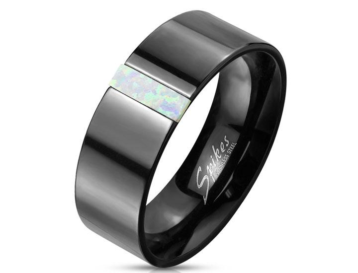 Daily Deals Rectangular Opal Stainless Steel Ring Rings