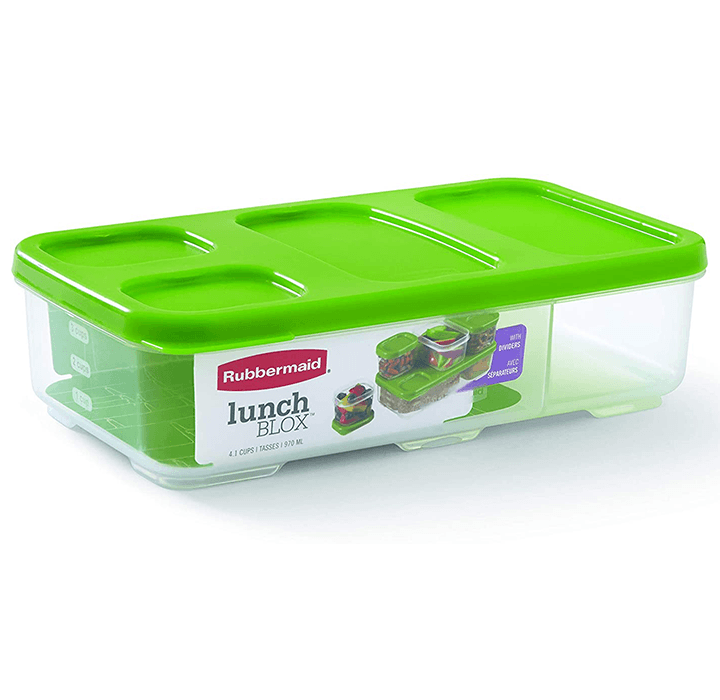 Daily Deals Rubbermaid Entree Container with Dividers and Lid Food Container Covers