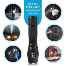 1000-Lumen USB Rechargeable LED Flashlight with 3-Modes & Zoomable Focus  - UntilGone.com
