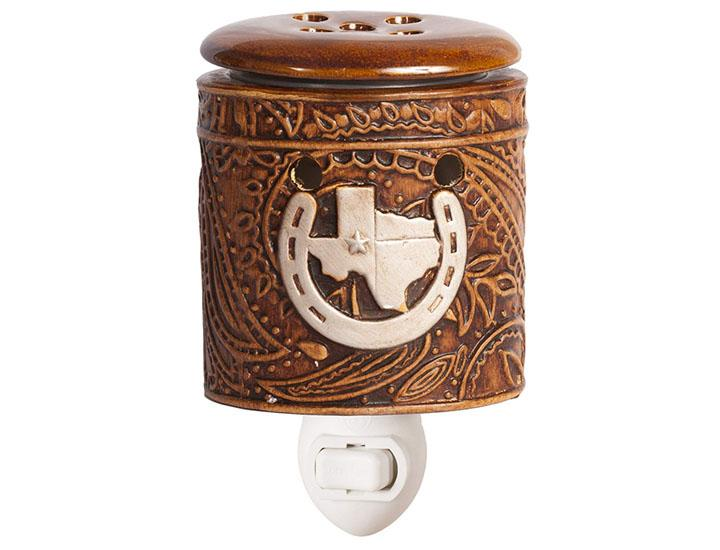 Daily Deals Scentsationals Texas Leather Embossed 15-Watt Plug-in Accent Wax Warmer Home Fragrances