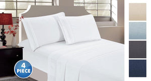 [4-Piece] Ultra-Soft Brushed Microfiber Sheet Set – Queen or King  - UntilGone.com
