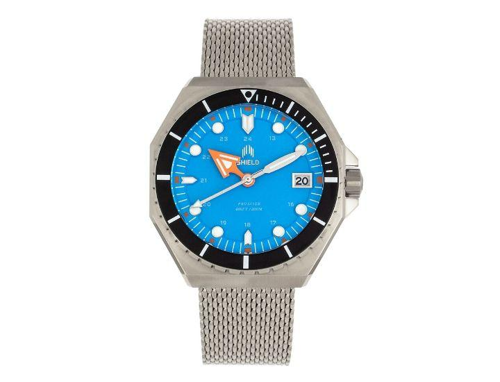 Daily Deals Shield Marius Bracelet Diver Watch with Date Watches
