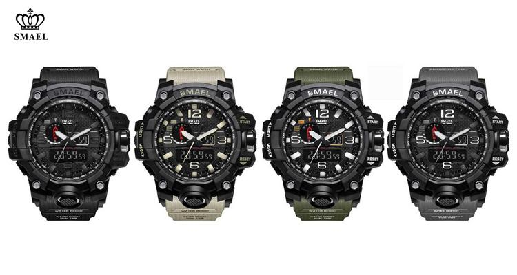 Smael Rugged Men's Military Sports Watch with Digital Displays  - UntilGone.com