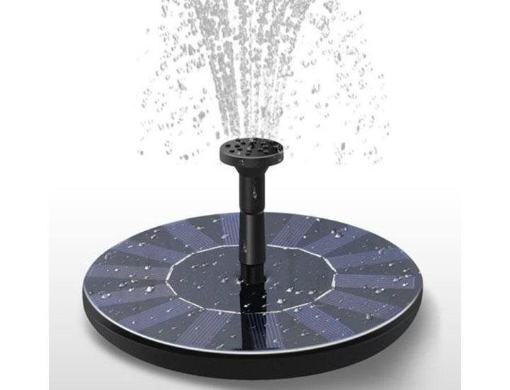 Daily Deals Solar Water Fountain with Assorted Heads Fountains & Waterfalls