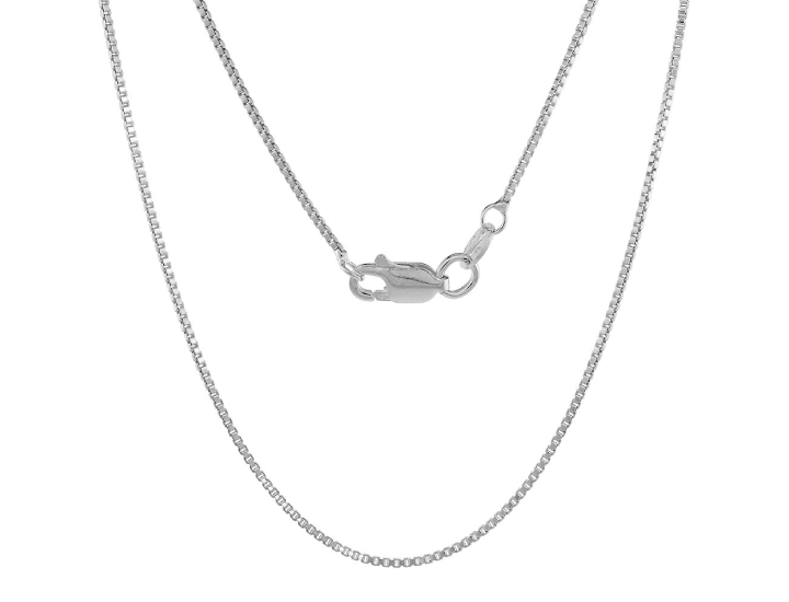 Daily Deals Solid .925 Sterling Silver 1.1 MM Italian Box Chain Necklaces