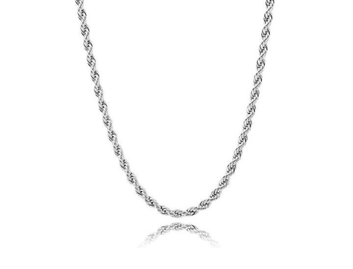 Daily Deals Solid .925 Sterling Silver 2.5 mm Italy Diamond-Cut Rope Chain Necklaces
