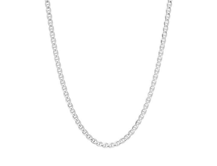 Daily Deals Solid .925 Sterling Silver Flat Mariner/Anchor Link Chain Necklaces