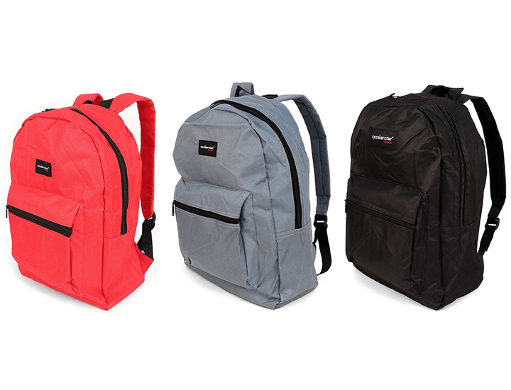 Daily Deals Solid Color Basic School Backpack Backpacks