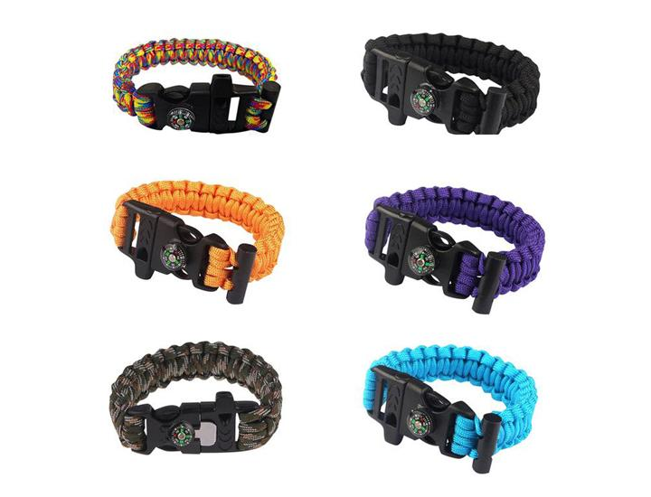 Daily Deals Sport Force Survival Bracelet with Compass, Whistle & Buckle Bracelets