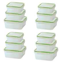 [24-Piece Set] Click and Lock Rectangular or Square Storage Containers  - UntilGone.com