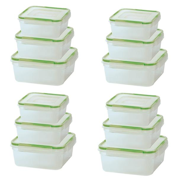 dd3390d94f8b [24-Piece Set] Click and Lock Rectangular or Square Storage Containers