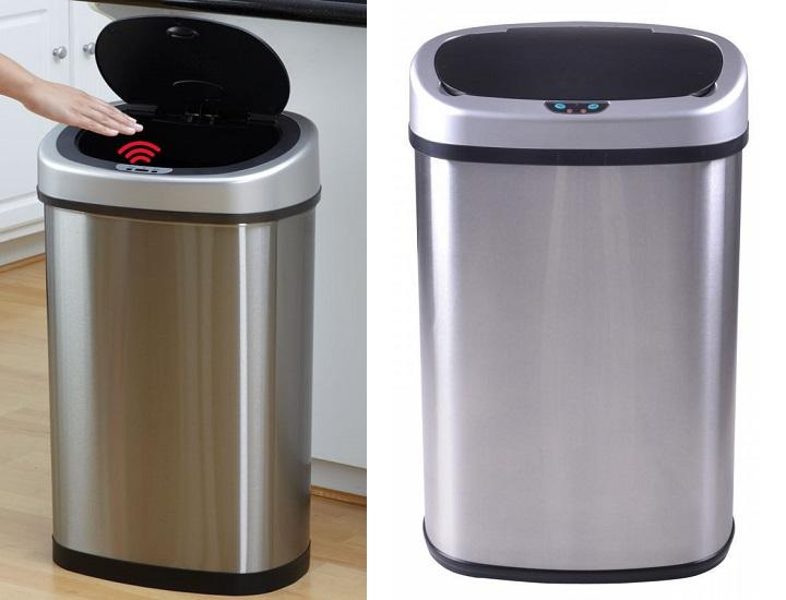 Motion Activated Stainless-Steel Trash Can
