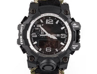 Outdoor Nation Survival Watch with Paracord/Fire Starter/Compass